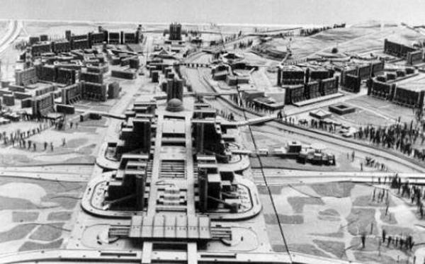 Macedonia. Kenzo Tange, 1965. План реконструкции Skopje